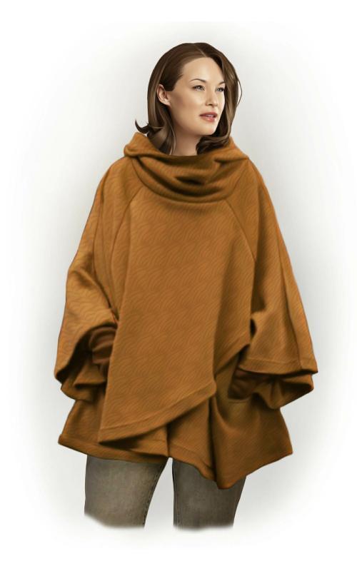 Пальто-пончо с рукавами сшить