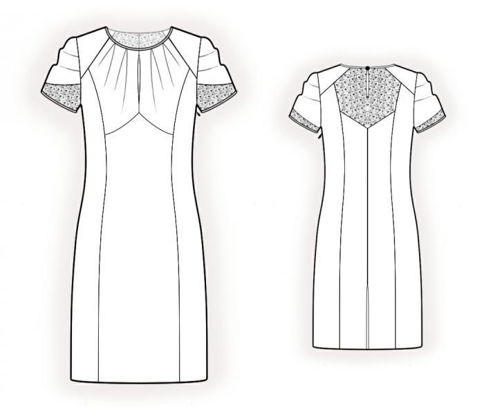 Платье из шифона без выкройки