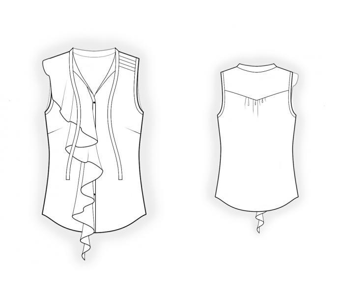 романтических блузок выкройки