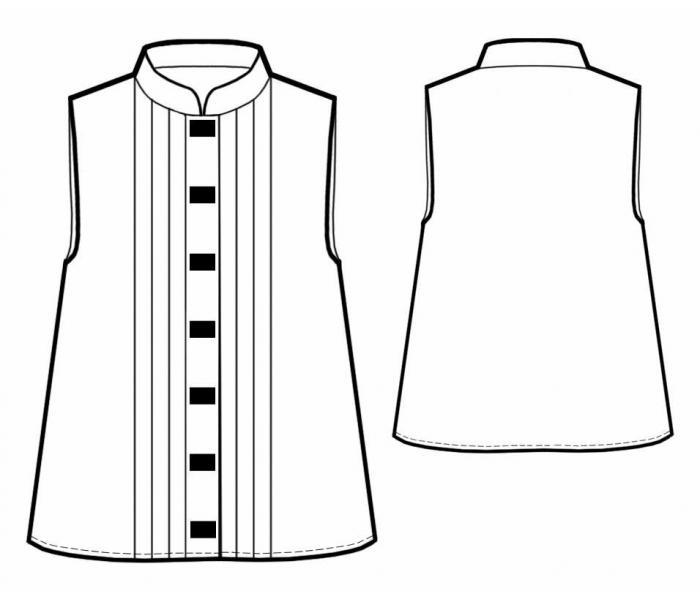 Как сделать складки на полочке платья
