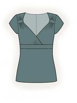 Стильная блузка с выкройкой