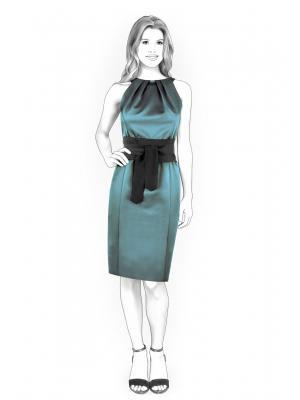 Строгое платье с выкройкой