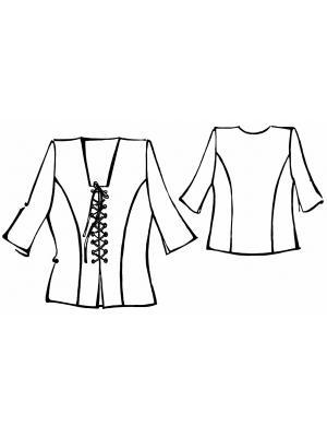 Выкройка простой блузки больших
