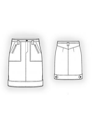 Юбка джинсовая длинная выкройка